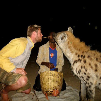 Johnny-and-a-hyena